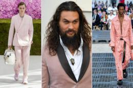 Collage di abiti rosa