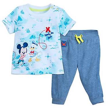 Completo maglietta e pantaloni Disney