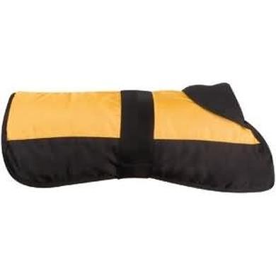 Cappotto nero e giallo