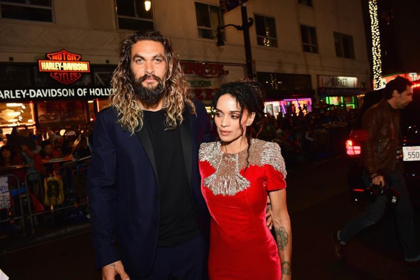Jason Momoa con la moglie Lisa Bonet