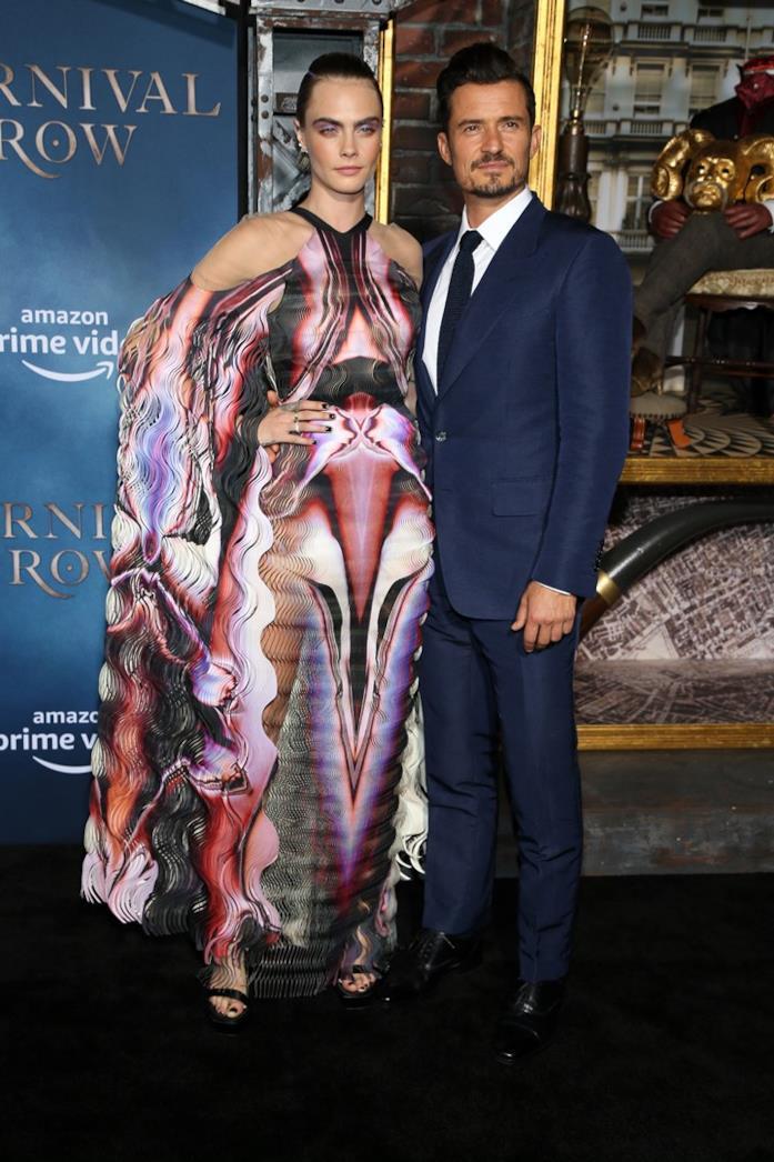 Cara Delevingne e Orlando Bloom sul red carpet
