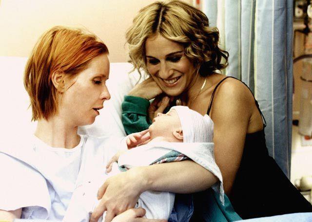 Miranda, Carrie e il piccolo Brady