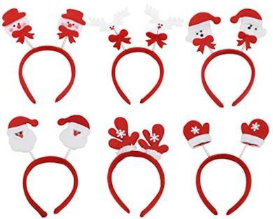 6 cerchietti di Natale
