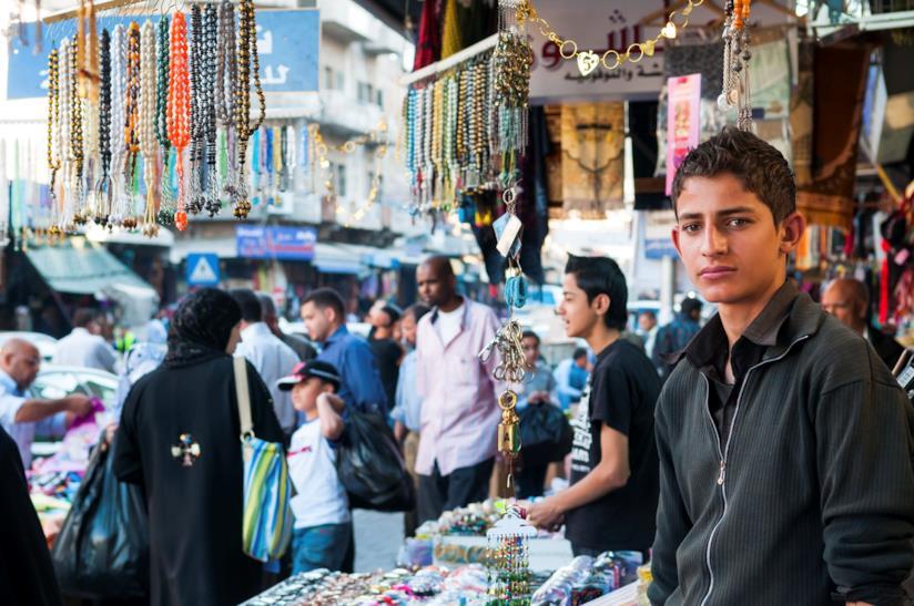 In un suq di Amman