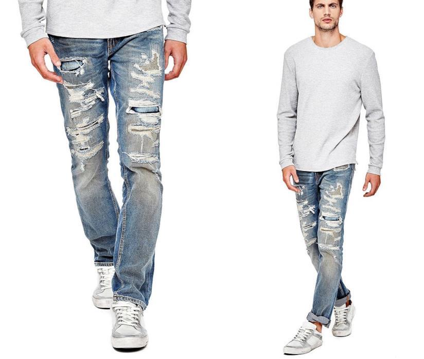 Jeans uomo con strappi frontali Guess