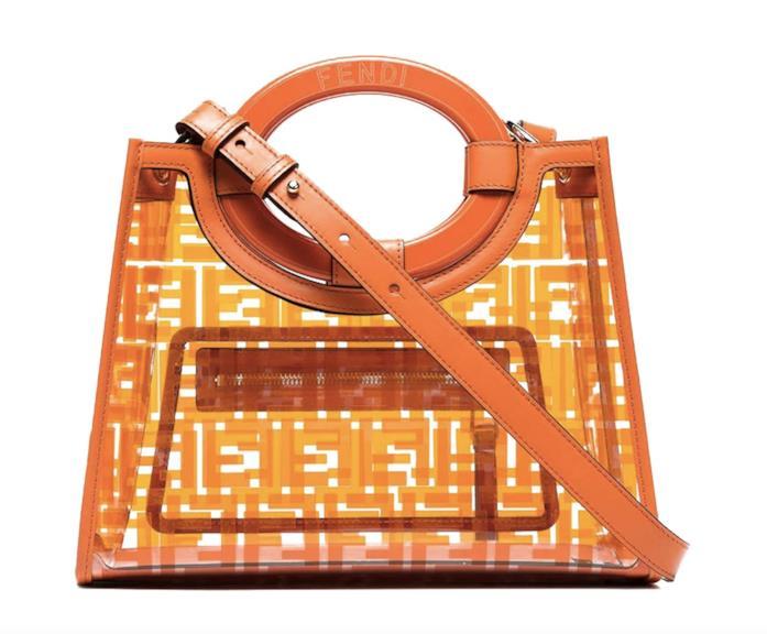 Borsa Fendi arancio e PVC