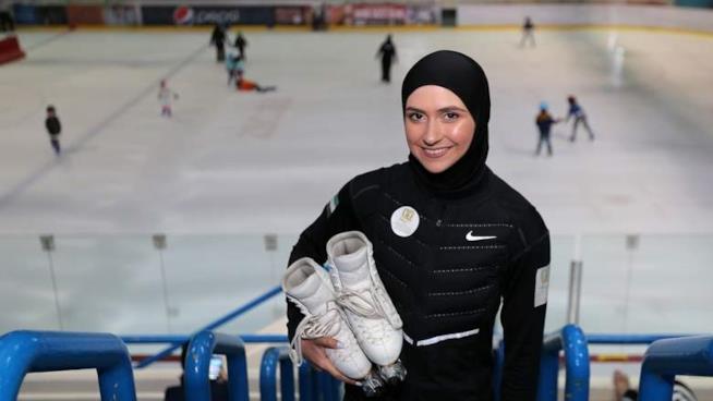 La pattinatrice sul ghiaccio Zahra Lari.