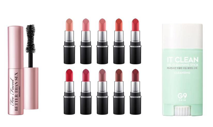 Travel size skincare e makeup