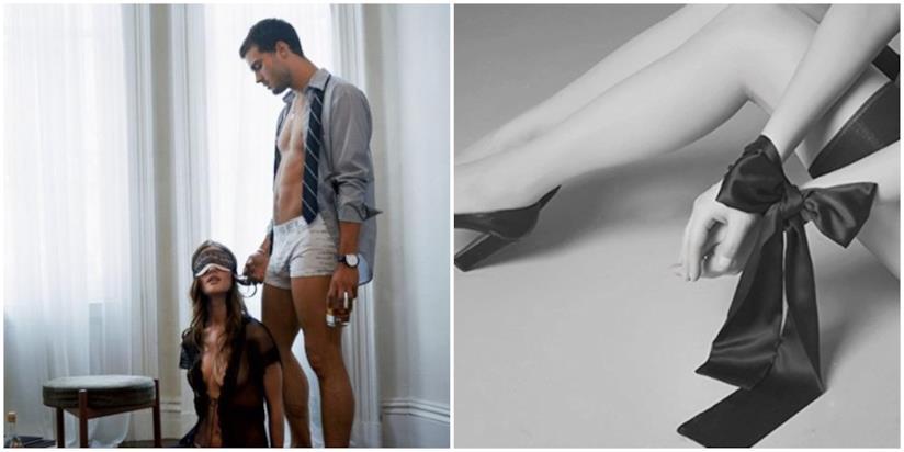 I protagonisti di Cinquanta sfumature di grigio provano un gioco erotico