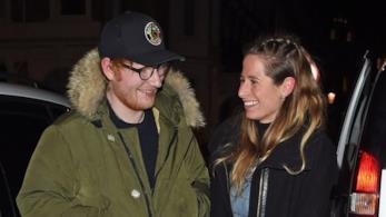 Il cantante Ed Sheeran e la fidanzata Cherry Seaborn