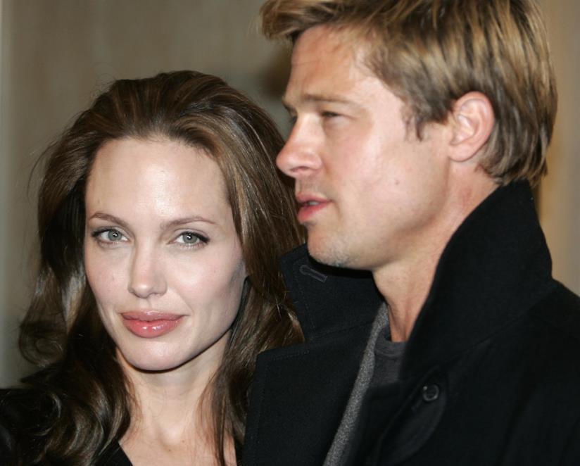 Angelina Jolie e Brad Pitt in primo piano