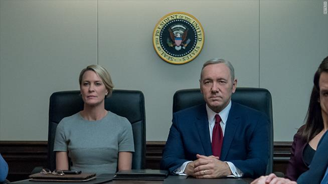 Robin Wright e Kevin Spacey in House of Cards