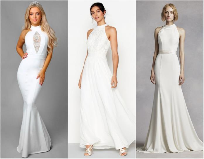Abiti bianchi, collage di outfit simili a quello di Meghan Markle
