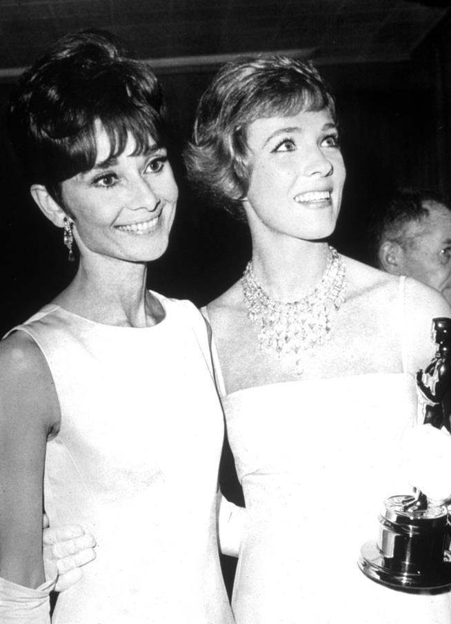 Julie Andrews e Audrey Hepburn