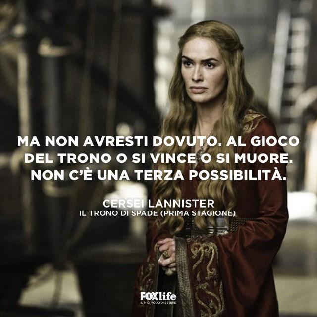 Cersei Lannister durante una scena