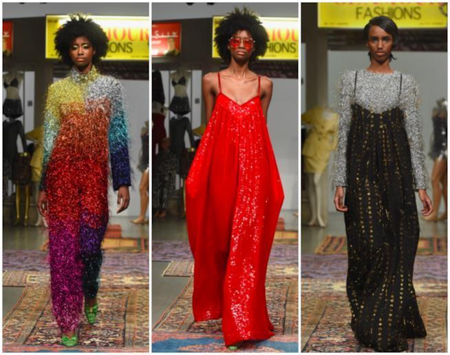 Tre look brillanti nella sfilata Ashish della LFW