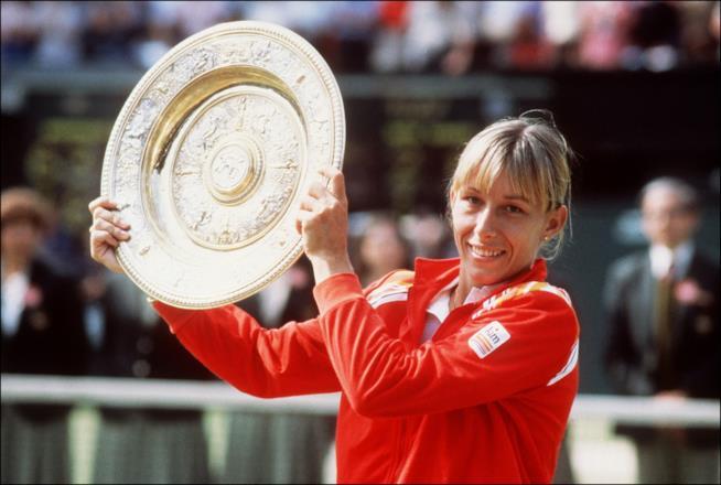 La tennista Martina Navratilova