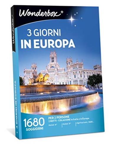 Cofanetto regalo per una vacanza di 3 giorni in Europa