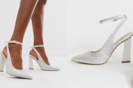 Un paio di scarpe da sposa