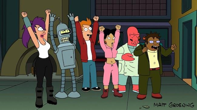 I protagonisti di Futurama