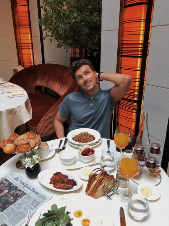 Gian Maria Sainato all'hotel The Mark di New York