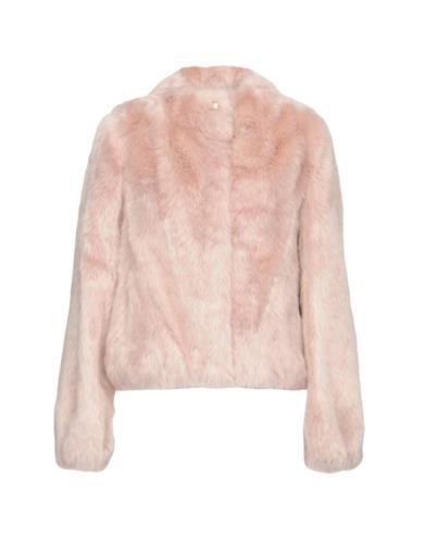 Faux fur rosa pastello