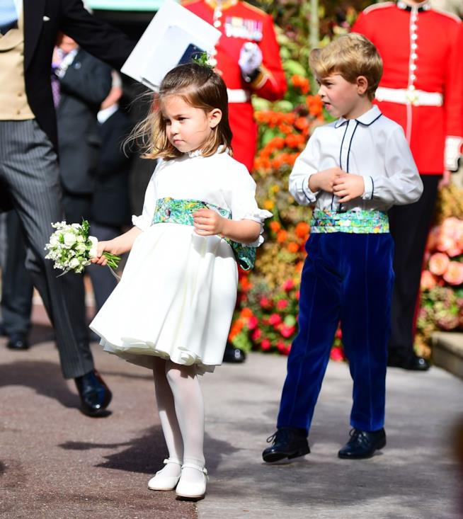Principessa Charlotte e principe George al matrimonio