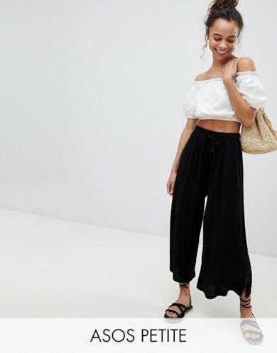 Pantaloni cropped con coulisse