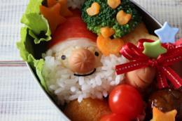 Piatto natalizio decorato con Babbo Natale