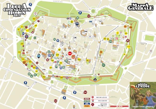 La mappa del Lucca Comics
