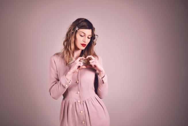 La cantante bresciana L'Aura