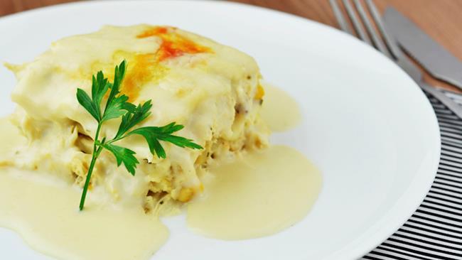 Lasagne alla crema di ricotta e basilico