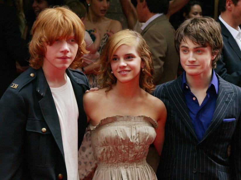 Daniel Radcliffe,Emma Watson e Rupert Grint alla prima di Harry Potter e il prigioniero di Azkaban