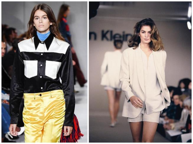 Kaia Gerber in passerella come sua madre Cindy Crawford