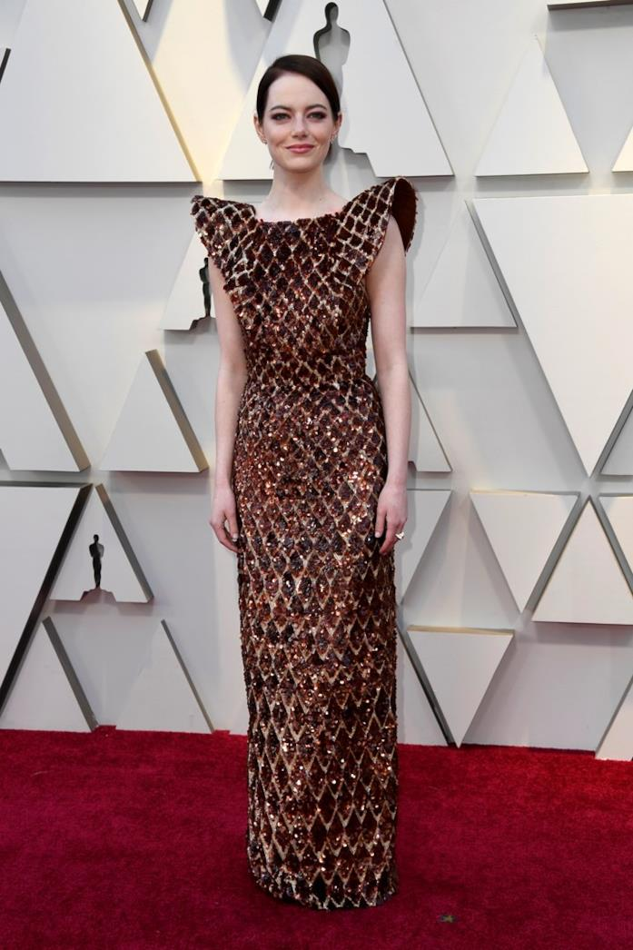 Emma Stone  sul red carpet degli Oscar 2019