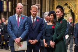 William e Harry con Meghan e Kate