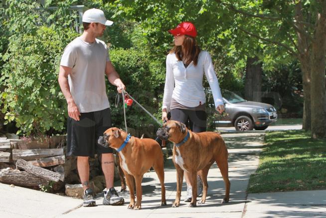 Justin Timberlake e Jessica Biel portano a spasso i loro cani