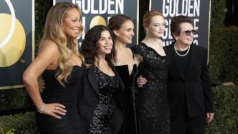 Emma Stone, Natalie Portman, Mariah Carey e le colleghe vestite di nero