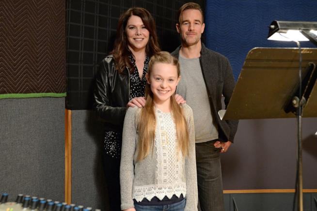 Lauren Graham con James Van Der Beek e Isabella Crovetti