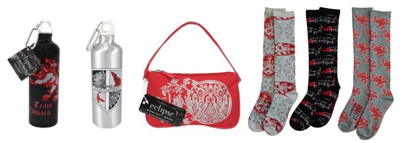Bottiglie, borsa e calzini ispirati a Twilight