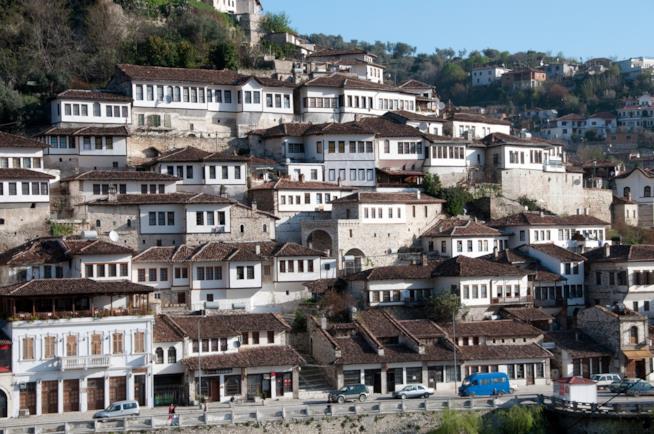 Pittoresca vista di Berat