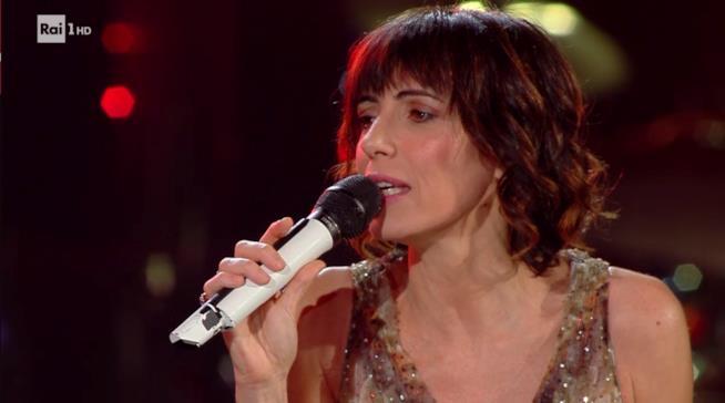 Una scena dell'esibizione di Giorgia