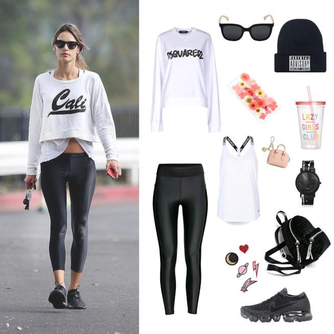 Abbigliamento palestra come Alessandra Ambrosio