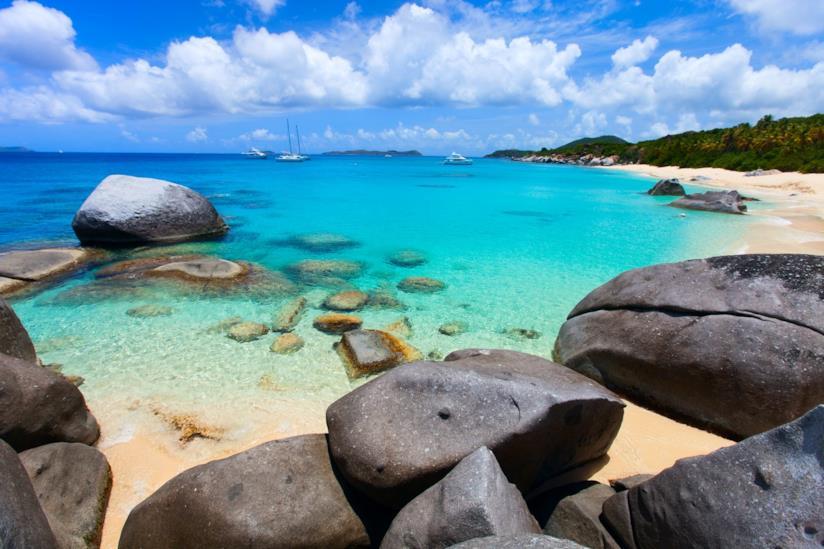 Caraibi, Virgin Gorda nelle Isole Vergini Britanniche