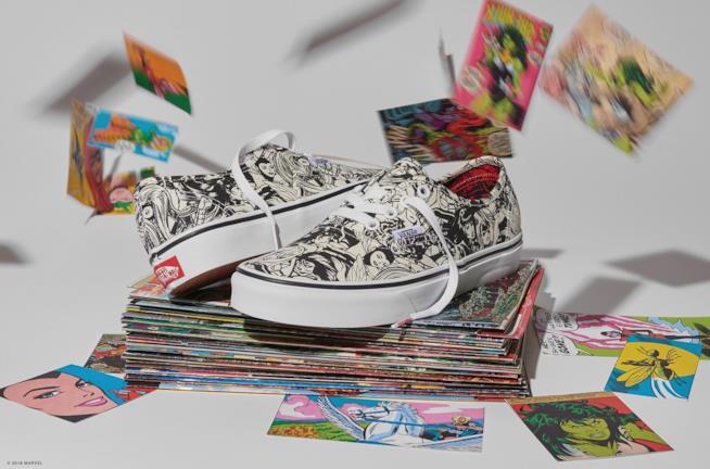 Una scarpa della linea Vans x Marvel