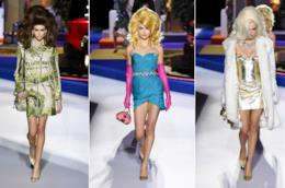 Collage di foto sfilata Moschino