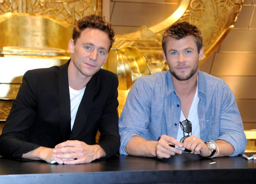 Tom Hiddleston e Chris Hemsworth