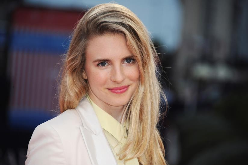 L'attrice Brit Marling in un photocall