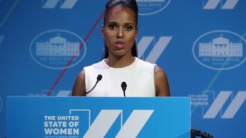 Kerry Washington parla dalla Casa Bianca a favore delle donne