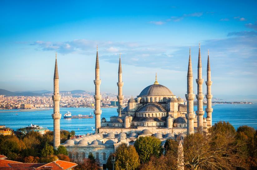 La splendida Moschea Blu di Istanbul